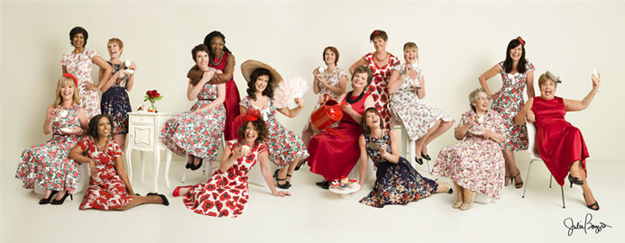 Breast Cancer Care's Vintage Tea Party photographed by 'Home by Midnight'